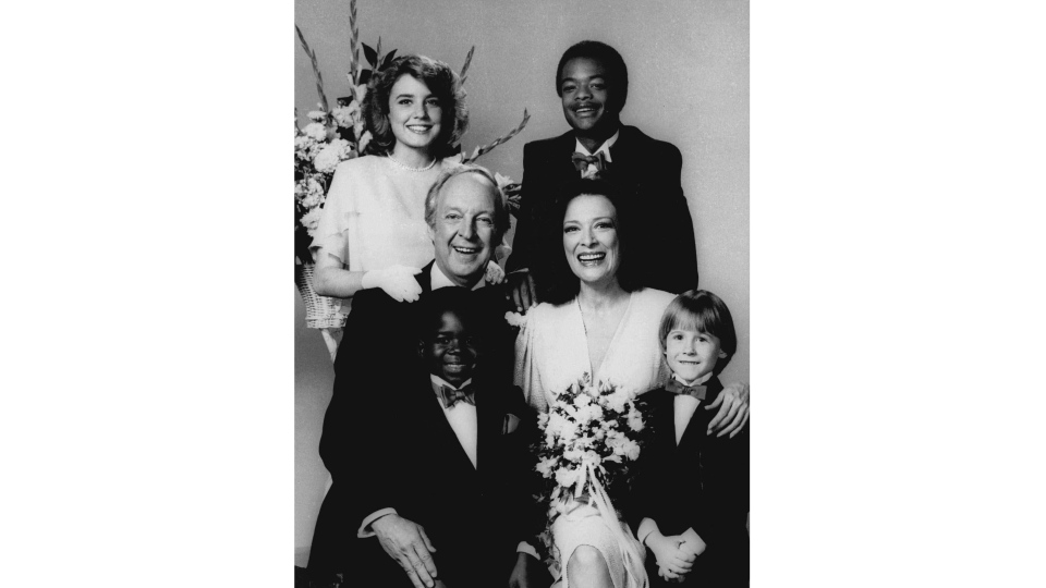 The cast of 'Diff'rent Strokes' is shown in character in this Jan. 27, 1984 handout photo. Conrad Bain as Phil Drummond is shown centre left.