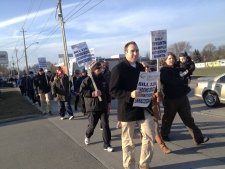 Teachers protest Kitchener