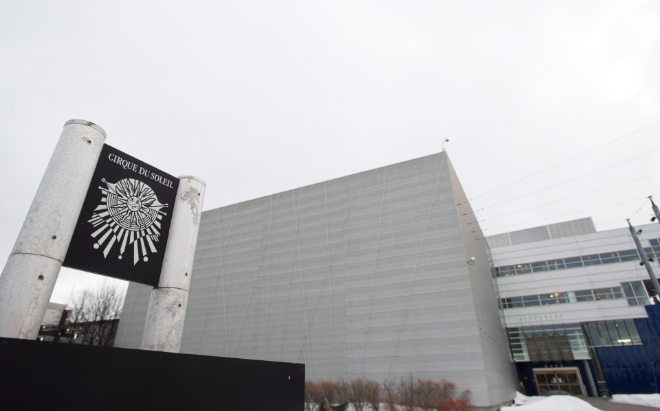 Cirque du Soleil headquarters is shown in Montreal, Wednesday, Jan. 16, 2012. (Graham Hughes / THE CANADIAN PRESS)