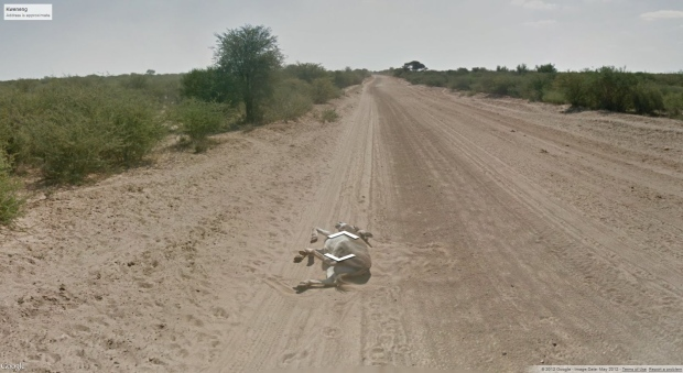 Google Street view of Kweneng, Botswana