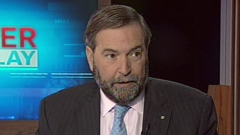Opposition Leader Thomas Mulcair appears on CTV's Power Play in Ottawa on Wednesday, Jan. 16, 2013.