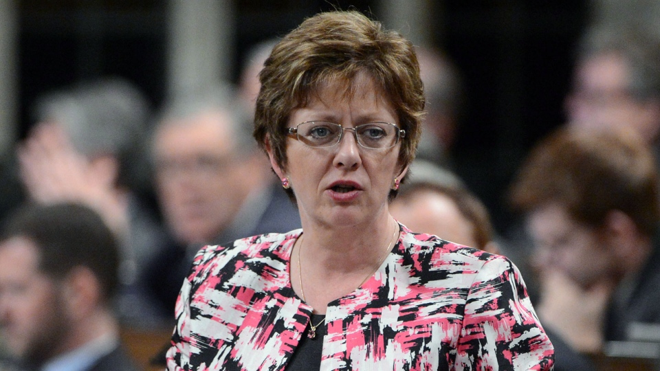 Minister of Human Resources Diane Finley responds to a question during question period in the House of Commons on Parliament Hill in Ottawa on Monday, Dec. 3, 2012. (Sean Kilpatrick / THE CANADIAN PRESS)