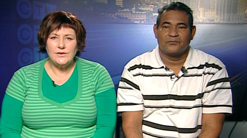 Maggie Whittingham-Lamont, left, and Pedro Andrade appears, right, appear on CTV's Canada AM in Halifax, Thursday, Jan. 17, 2013.