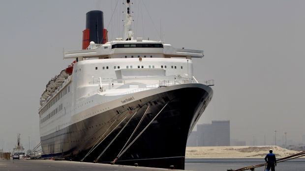 Queen Elizabeth 2 in Dubai, July, 2012.