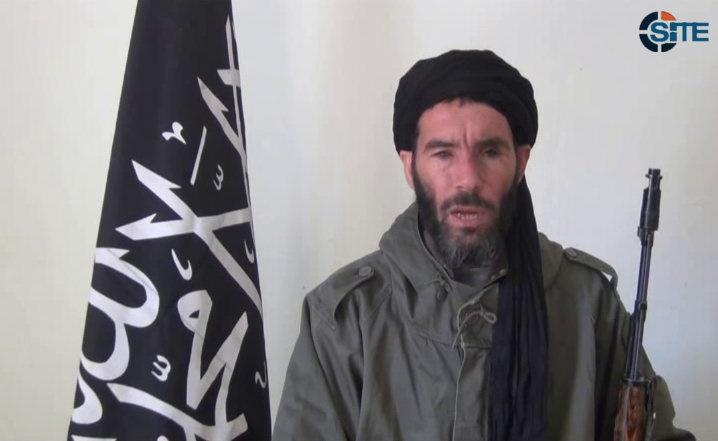 This image made available  on Thursday Jan. 17, 2013, purports to show militant militia leader Moktar Belmoktar. (SITE Intel Group)