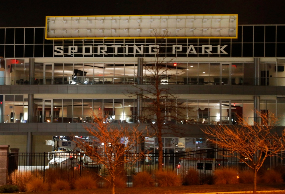 Livestrong Sporting Park, shown here in Kansas City, Kan. on Wednesday, Jan. 16, 2013, will undergo a name change following a disagreement between the MLS team and the cancer charity. (AP / Orlin Wagner)