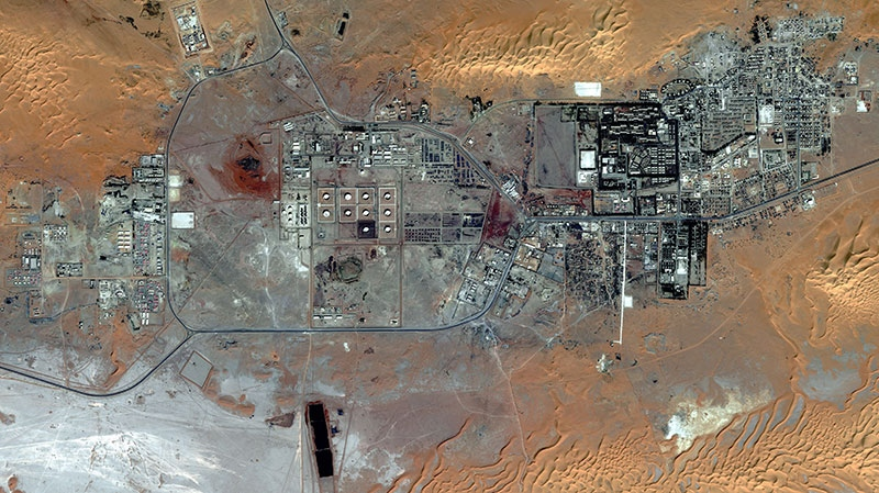 The Amenas Gas Field in Algeria, which is jointly operated by BP and Norway's Statoil and Algeria's Sonatrach, is shown on Oct. 8, 2012. (DigitalGlobe)