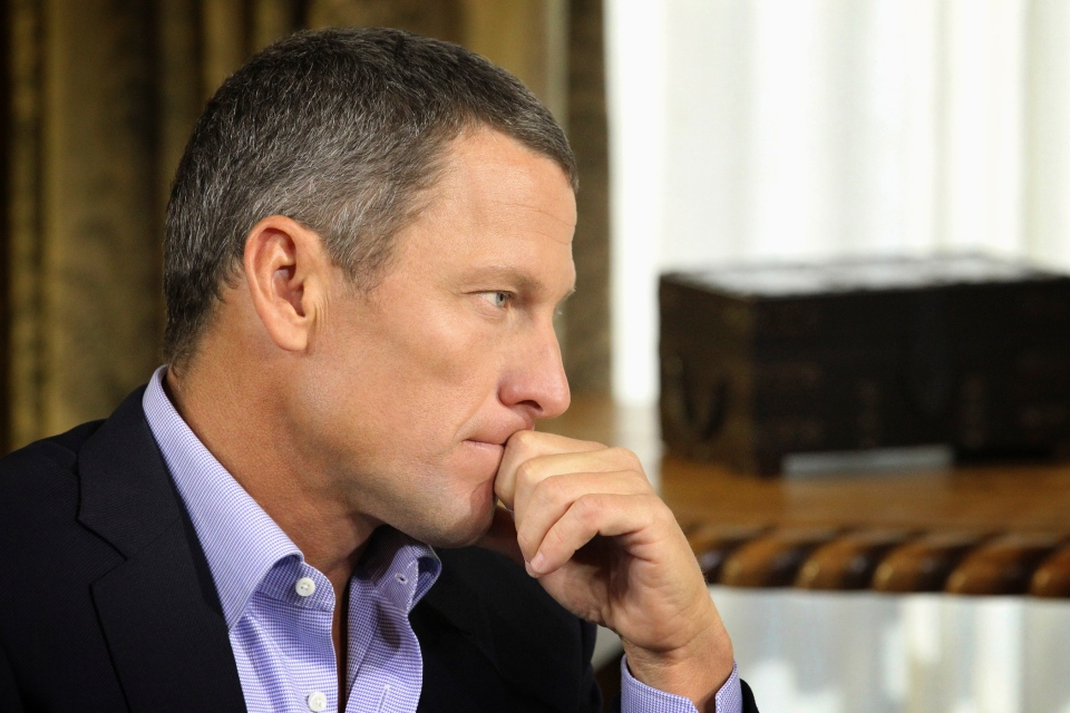 Lance Armstrong listens as he is interviewed by talk show host Oprah Winfrey during taping for the show 'Oprah and Lance Armstrong: The Worldwide Exclusive' in Austin, Texas, Monday, Jan. 14, 2013. (AP / Courtesy of Harpo Studios, Inc., George Burns)