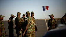 West African soldiers from Togo arrive at Bamako