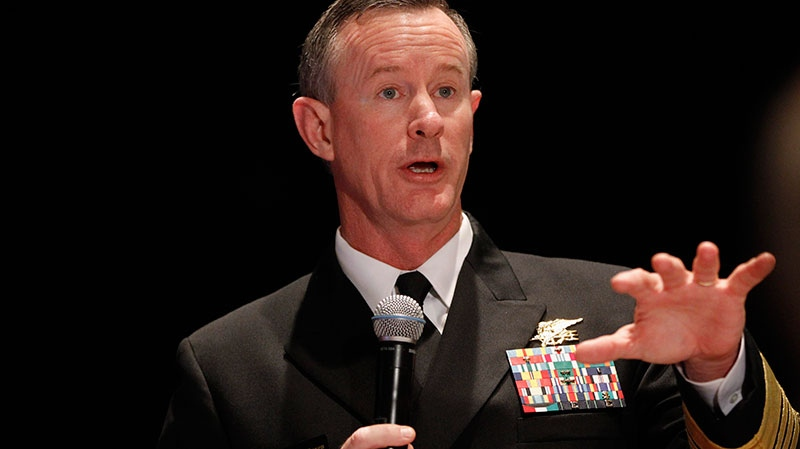 Navy Adm. Bill McRaven, commander of the U.S. Special Operations Command speaking in Washington, Feb. 7, 2012. (AP / Charles Dharapak)