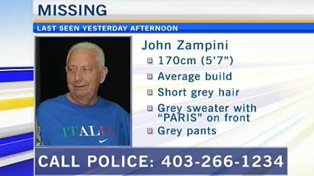 John Zampini missing