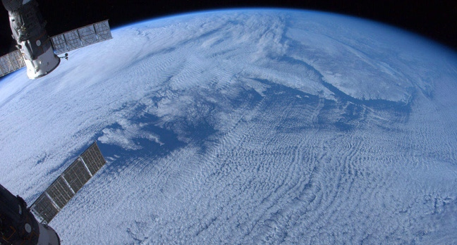 Newfoundland and Labrador, shot without zoom, is shown in a photo posted on Twitter by Canadian astronaut Chris Hadfield on Jan. 7, 2013. (Chris Hadfield, NASA, via Twitter)