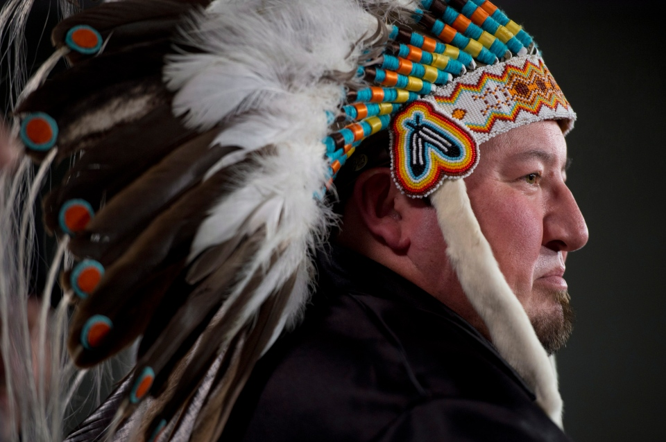 Manitoba Grand Chief Derek speaks with the media, in Ottawa, Friday, Jan. 18, 2013. (Adrian Wyld / THE CANADIAN PRESS)