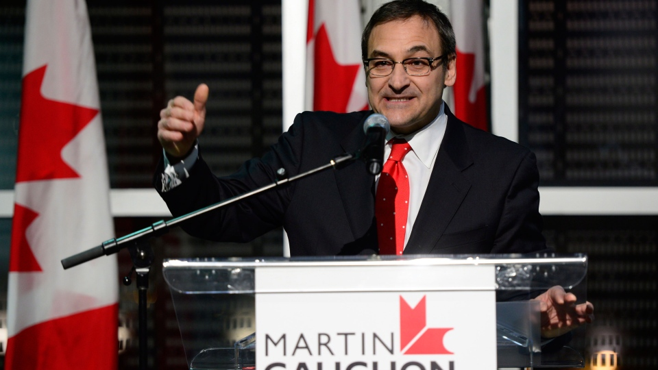 Martin Cauchon launches bid for federal Liberal leadership in Montreal on Friday, January 18, 2013. (Paul Chiasson / THE CANADIAN PRESS)