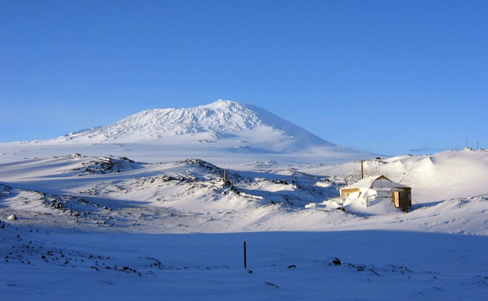 Polar explorer Sir Ernest Shackleton's base camp is pictured in Antarctica, Feb. 8, 2010. (AP / Antarctic Heritage Trust)
