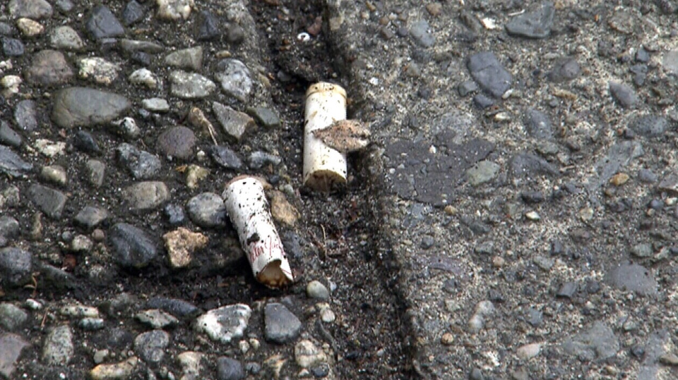 In this undated photo a cigarette butt is pictured.