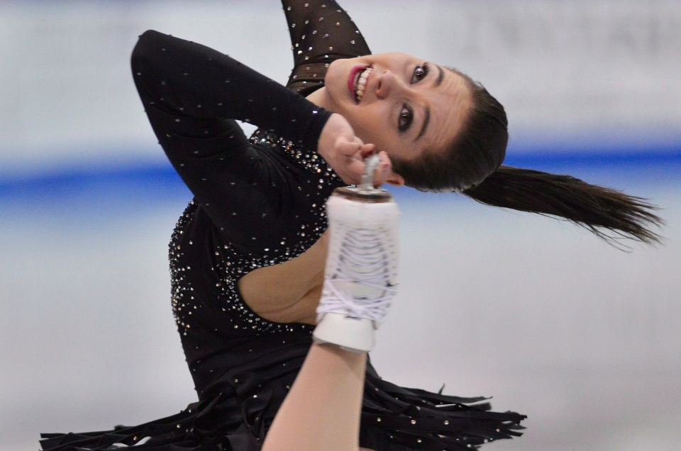 Kaetlyn Osmond performs her short program during the 2013 Canadian Figure Skating Championships in Mississauga, Ont., on Friday, January 18, 2013. (Nathan Denette / THE CANADIAN PRESS)