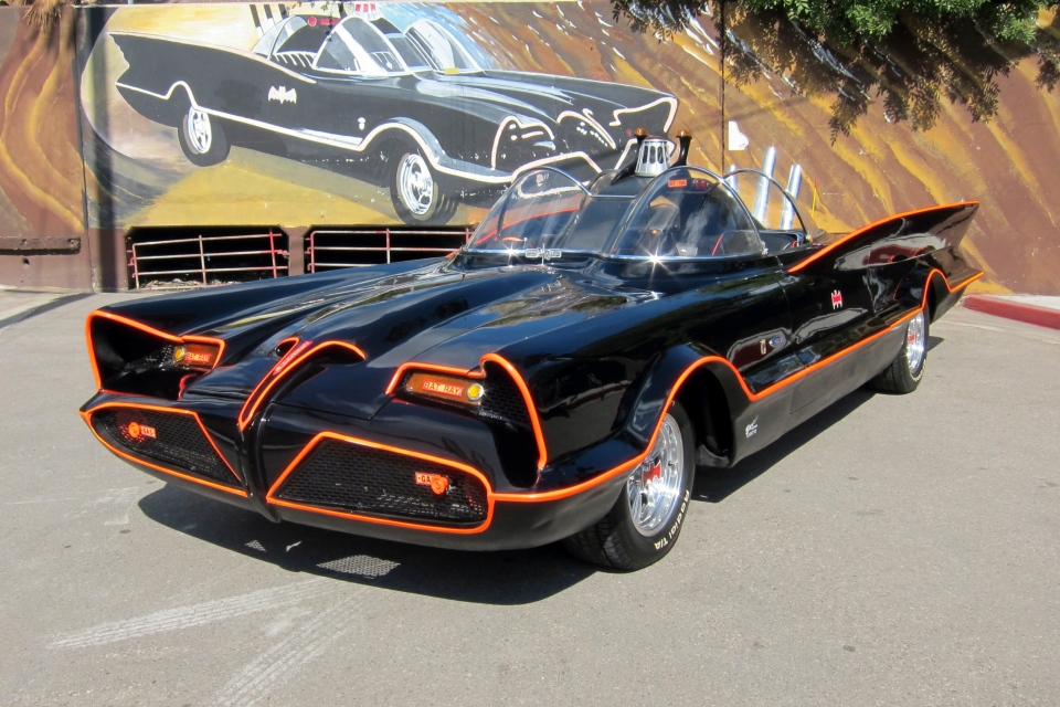This October 2012 file photo provided by Barrett-Jackson/George Barris shows the original Batmobile in Los Angeles. (AP / Courtesy Barrett-Jackson / George Barris)