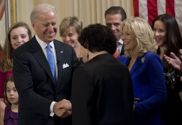 Vice President Joe Biden sworn in
