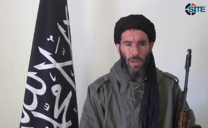 This image from video provided by the SITE Intel Group made available Thursday Jan. 17, 2013, purports to show militant militia leader Moktar Belmoktar. (AP / SITE Intel Group)