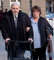 Dr. Aubrey Levin, left, in Calgary, Oct. 15, 2012.