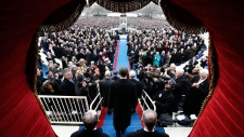 Crowds gather to celebrate Obama's 2nd term
