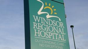 The Windsor Regional Hospital sign is shown in this file photo in Windsor, Ont., Dec.5, 2012. (Melanie Borrelli / CTV Windsor)