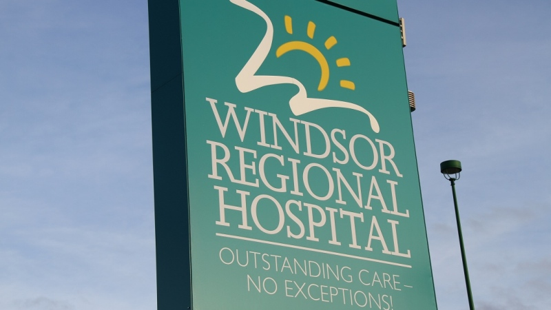The Windsor Regional Hospital sign is shown in this file photo in Windsor, Ont., Dec.5, 2012. (Melanie Borrelli / CTV Windsor)
