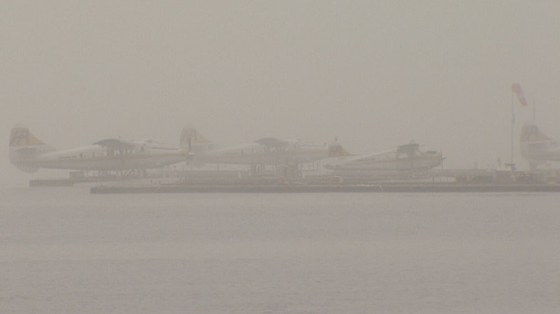 Harbour Air Seaplanes cancelled some flights after a heavy layer of fog blanketed Metro Vancouver Monday, Jan. 21. (CTV)