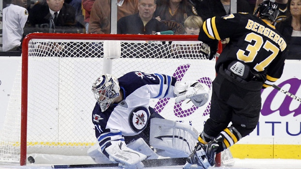 Jets lose to Bruins