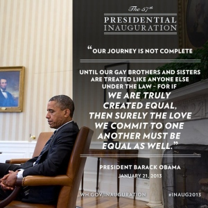 'Our Journey Is Not Complete': President Obama on January 21, 2013 (via Twitter)
