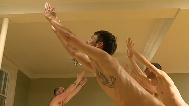 There's a growing number of men in Edmonton who are signing up to take it all off - by practicing yoga naked. Instructor Chris McBain says his naked yoga class is always full, and the interest keeps growing.