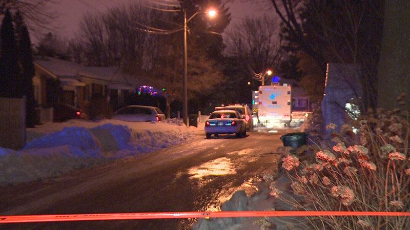 Montreal police interrogate a 12-year-old boy after a shooting left a 16-year-old boy dead, Monday, Jan. 21, 2013.