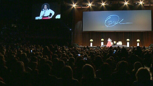 Oprah Winfrey addressed a crowd of about 15,000 people at Rexall Place on Monday, Jan. 21, 2013.
