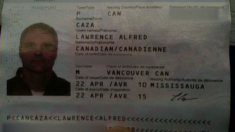Sunwing airline employees rejected Larry Caza's passport because it had water damage. Dec. 24, 2010. (CTV)