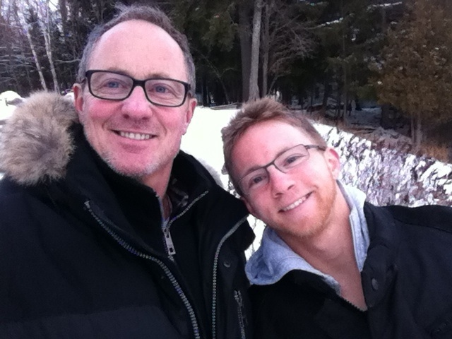 Kevin Newman is pictured with his son, Alex. Today at the age of 26, Alex has the love of every generation of his family, lives openly and has a successful career in advertising, Kevin writes.