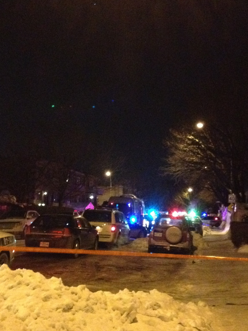 A man was fatally shot in Saint-Leonard Tuesday night. (CTV Montreal / Cindy Sherwin)