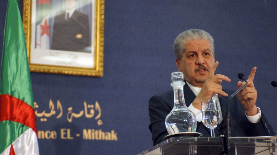 Algerian Prime Minister Abdelmalek Sellal answers questions during a press conference held in Algiers, Monday, Jan. 21, 2013. (AP / Sidali Djarboub)