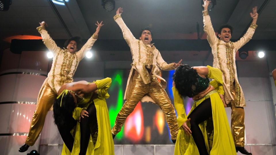 Dancers perform during an event in Vancouver, B.C., on Tuesday January 22, 2013. (Darryl Dyck / THE CANADIAN PRESS)