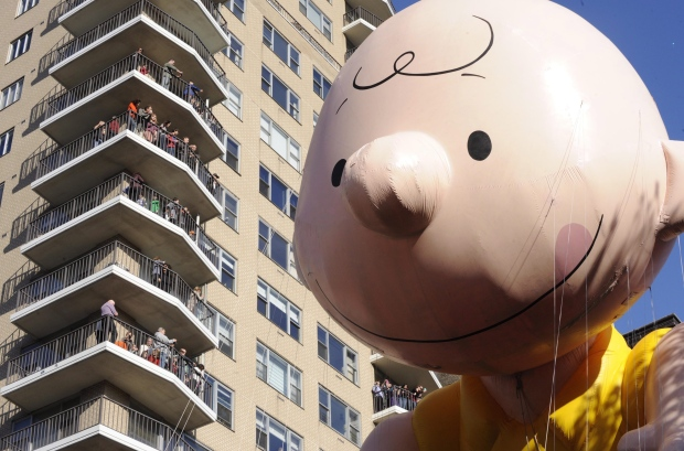 Charlie Brown at the Macy's Parade, Nov. 22, 2012.