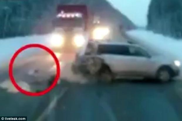 Russia dashcam video