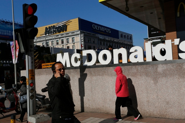McDonald's store in Beijing Monday, Nov. 12, 2012
