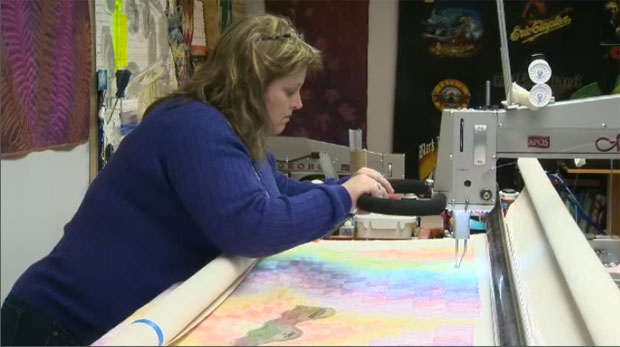 Deborah Domin provides quilts to the Calgary's less fortunate
