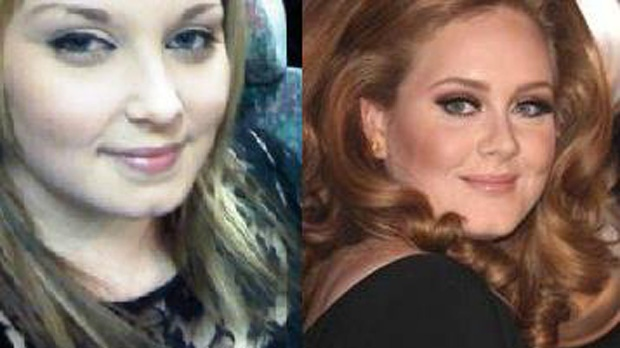 Christy Leigh posted this to our Facebook page,  saying she's mistaken all the time for British Superstar Adele.