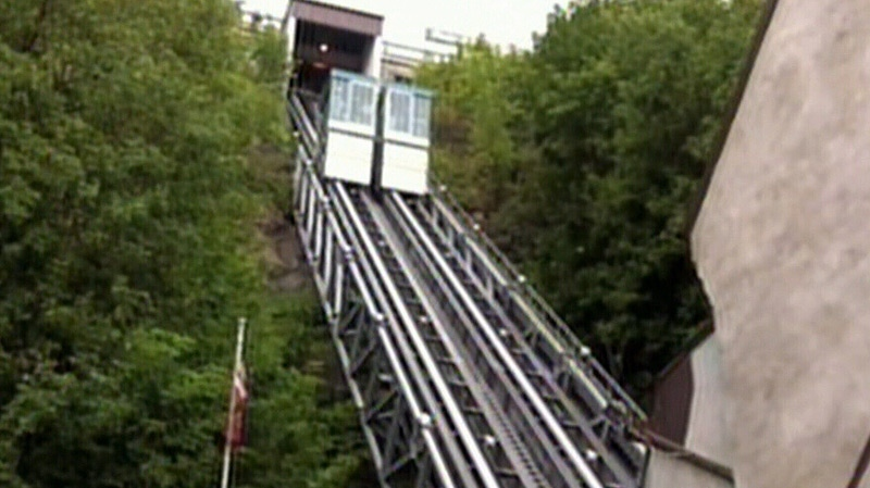 The city is considering building a funicular, similar to this one in Quebec City, to connect downtown and the river valley near the old Rossdale Power plant.