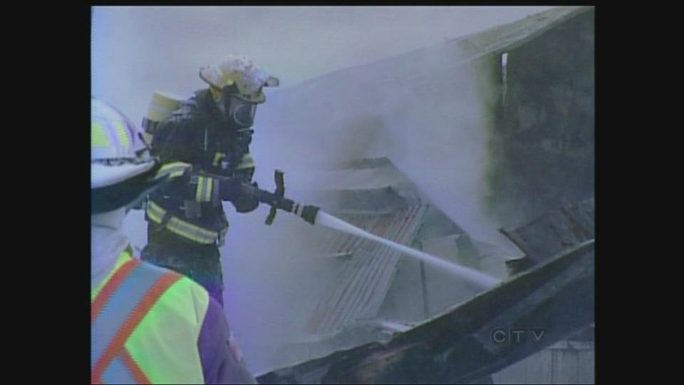 Firefighters battle a blaze at MDL Doors in Huron County Ont. on Wednesday Jan. 23 2013. & Firefighters battle massive fire near Brussels | CTV London News