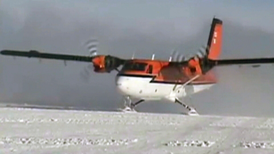 A Twin Otter plane similar to the one shown in this file photo from video went missing in Antarctica on Wednesday, Jan. 23, 2013.