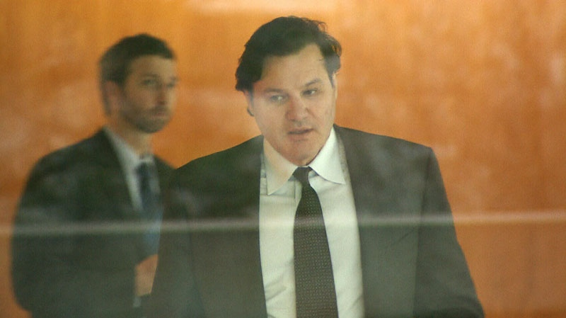 Canucks owner Francesco Aquilini is seen inside a Vancouver courthouse on Wednesday, Jan. 23, 2013. (CTV)