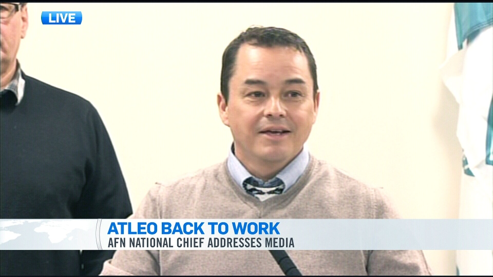 National Assembly of First Nations Chief Shawn Atleo speaks during a press conference in Vancouver on Thursday, Jan. 24, 2013.