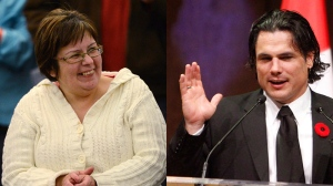 Attawapiskat Chief Theresa Spence and Sen. Patrick Brazeau are seen in these file photos. (Fred Chartrand / Sean Kilpatrick / THE CANADIAN PRESS)